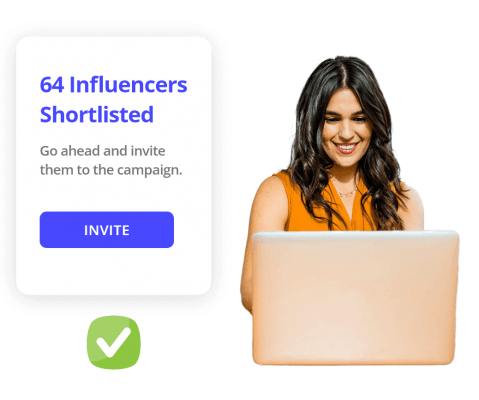 Shortlist influencers from a list of content category wise sorted influencers for your influencer marketing campaigns